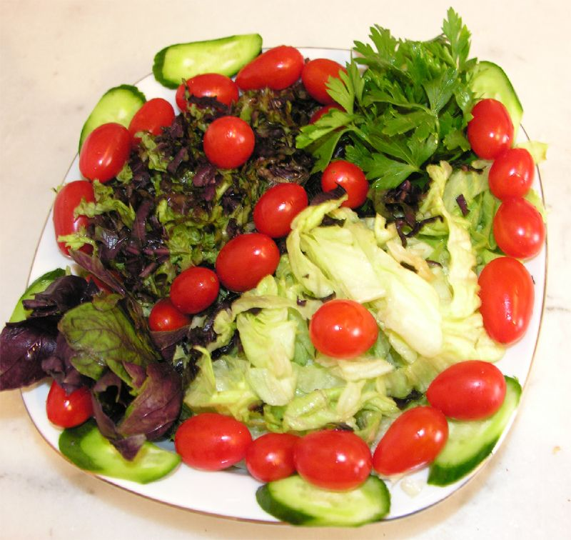 diyet mevsim salatası
