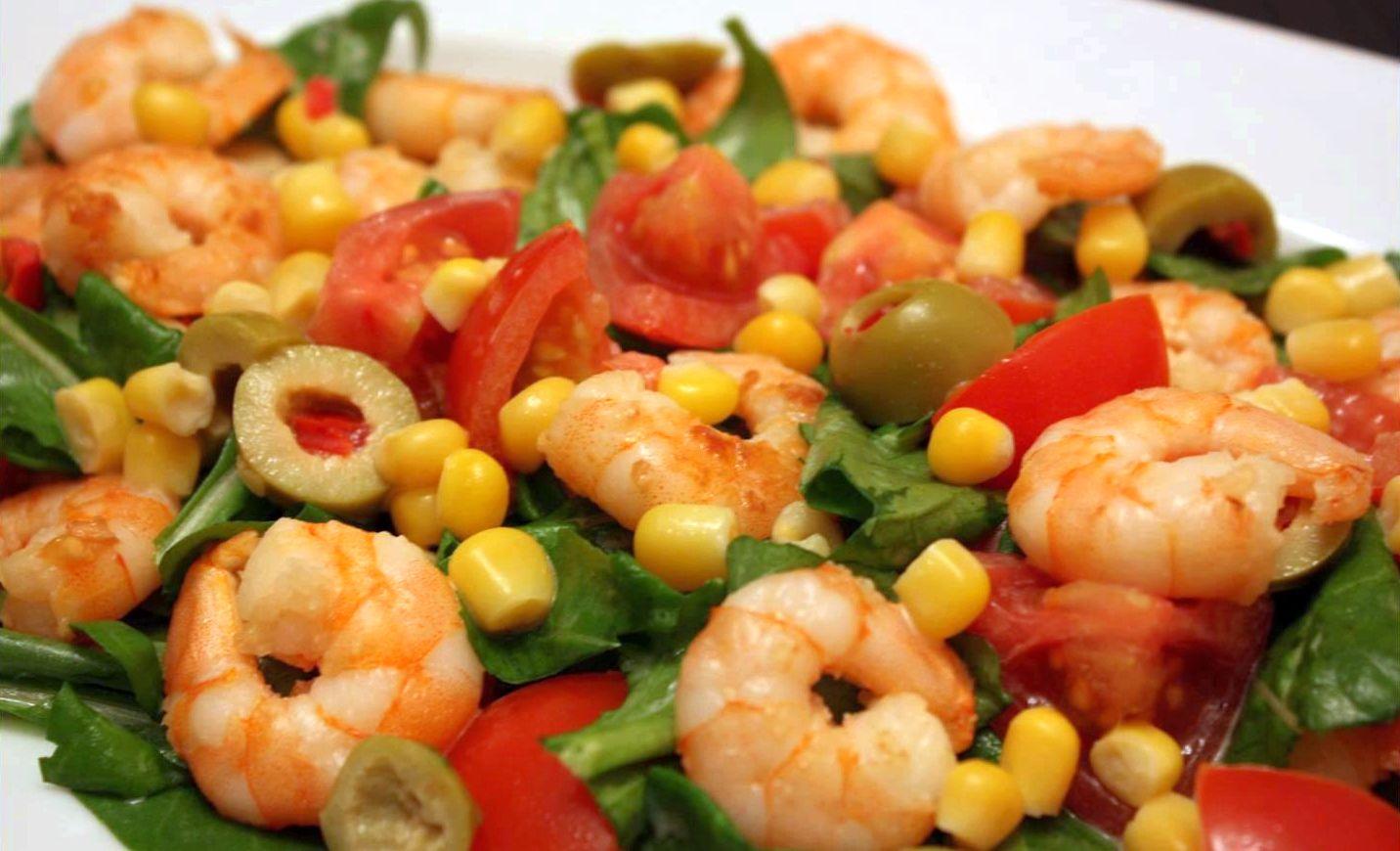 diyet karides salatası
