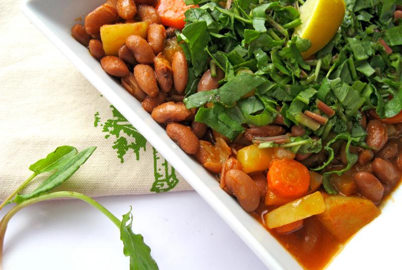 diyet barbunya salatası